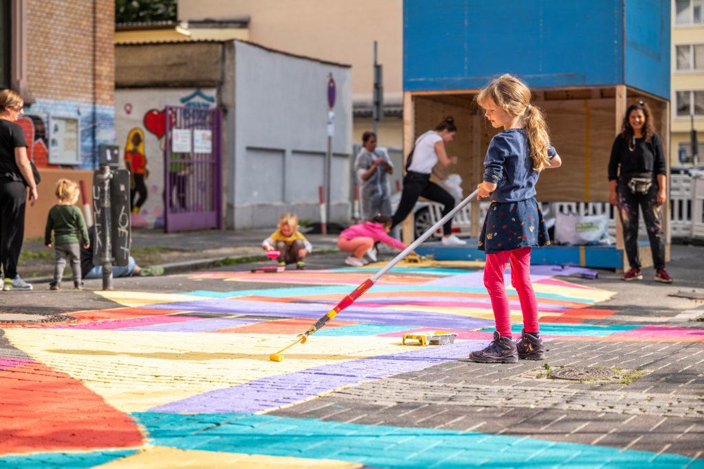 Temporäre Spielstraße, Beweg Dein Quartier  © Stadt Offenbach / Simon Malz