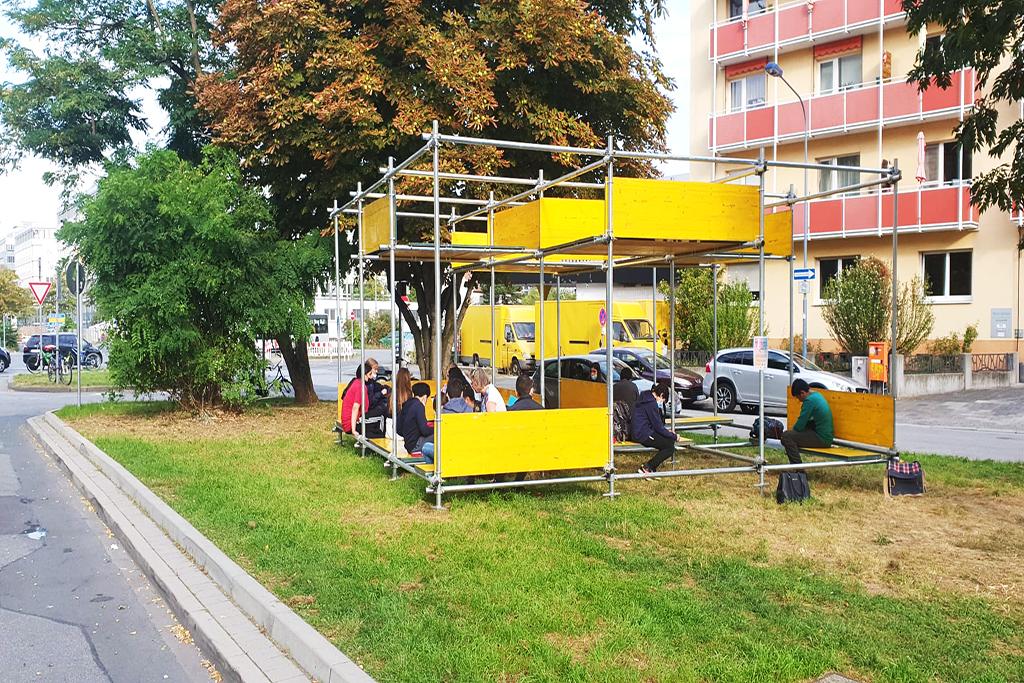 Skulptur Pocket Park, Beweg Dein Quartier  © Tobias Kurtz